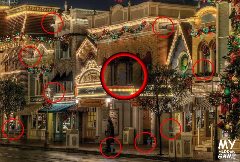 Hidden images in pictures games